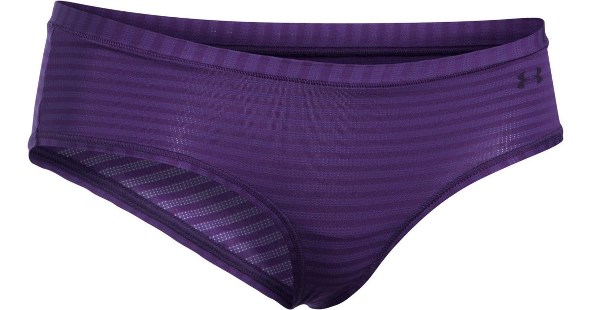 Lyst - Under Armour Sheer Hipster Novelty Underwear in Purple 1cc90ebf4