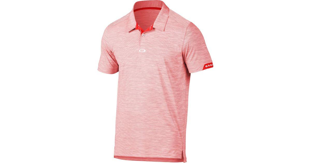 7e94667608 Lyst - Oakley Gravity Golf Polo in Pink for Men