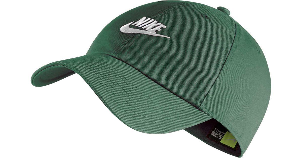 los angeles 21fb7 572c7 Lyst - Nike Sportswear H86 Cotton Twill Adjustable Hat in Green for Men