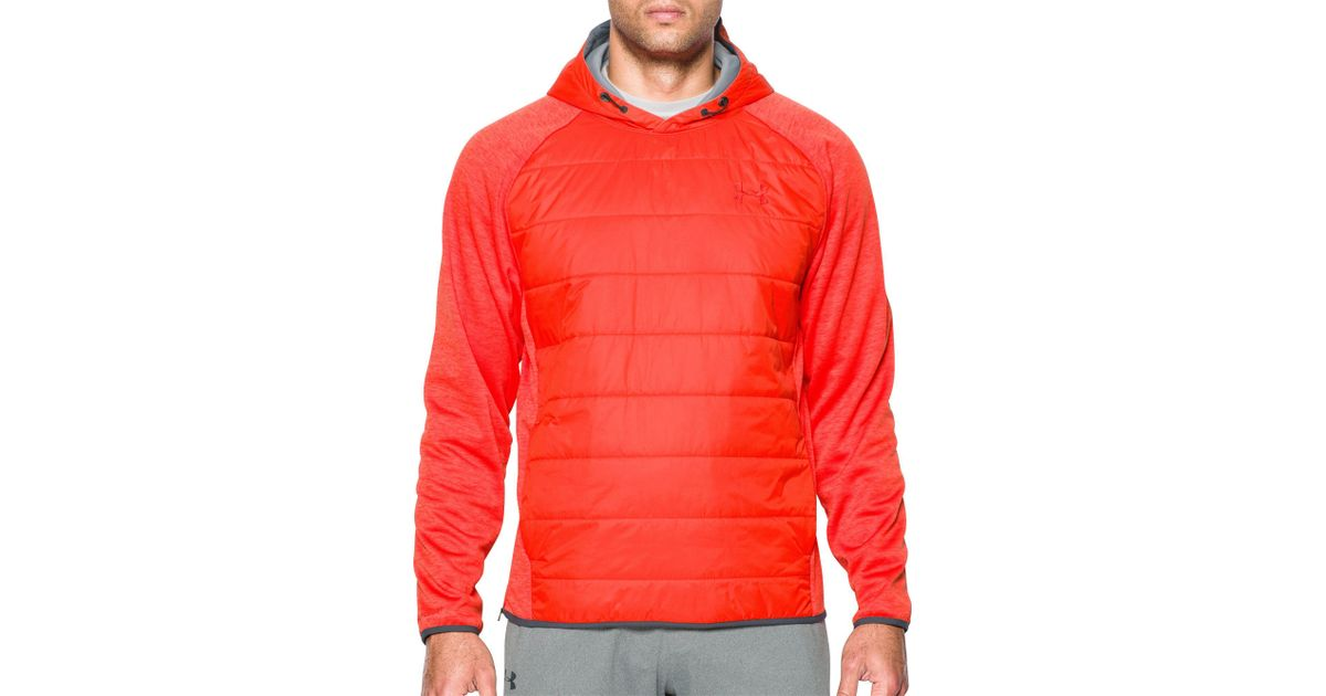 Lyst - Under Armour Storm Insulated Swacket Hoodie in Orange for Men e1dcd7229