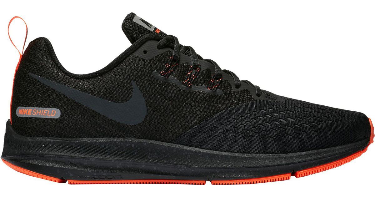 d181e02b95c low cost lyst nike air zoom winflo 4 shield running shoes in black for men  2d5a4