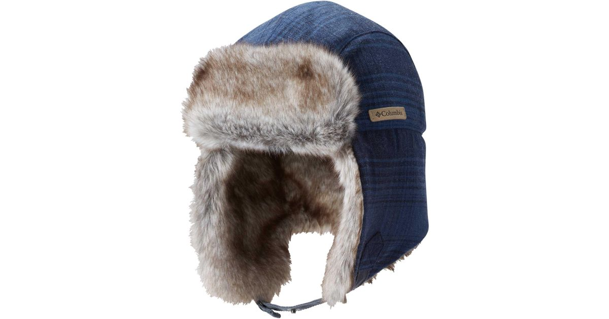 901723bfd6034 Columbia Noble Falls Ii Trapper Hat in Blue for Men - Lyst