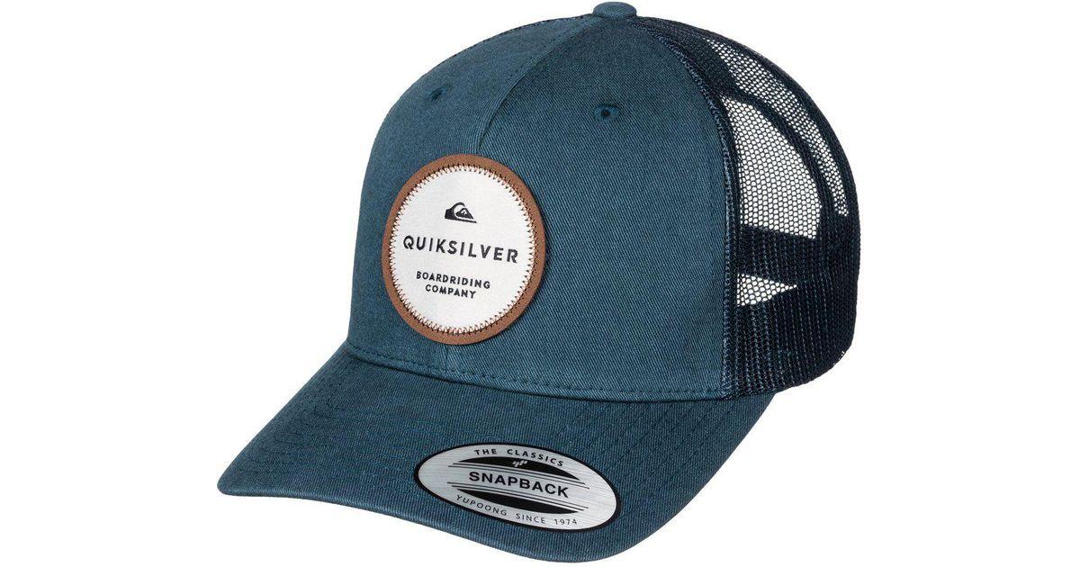Lyst - Quiksilver Dunbar Trucker Hat in Blue for Men e797ae31d75