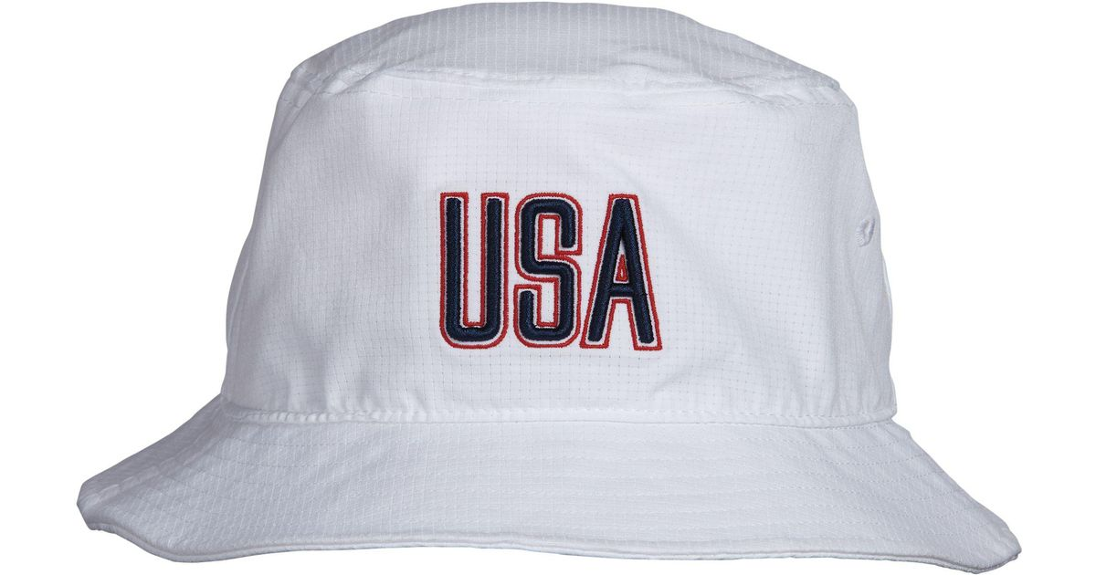 2e602f1ecd9e8 ... discount code for lyst under armour armourvent usa bucket hat in white  for men 6bd5a 09c55