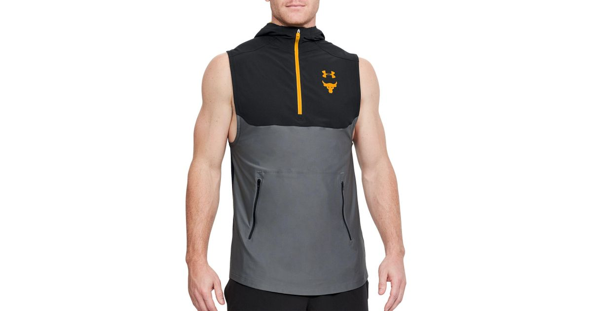 f0d7de90e26f6 Lyst - Under Armour Project Rock Vanish Sleeveless Hoodie in Black for Men