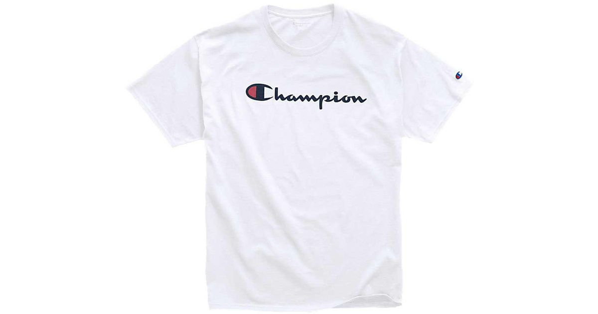 71c9760b2b7b Lyst - Champion Script Jersey Graphic Tee in White for Men