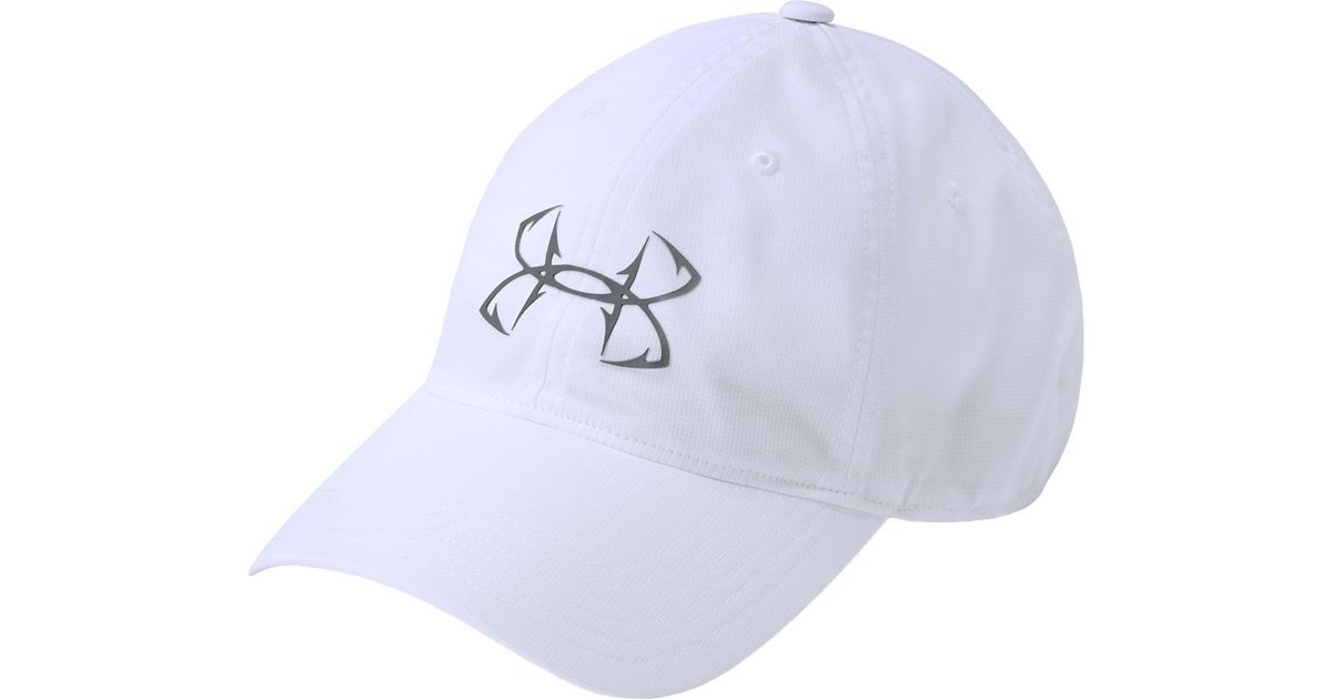 9d11b3e22d0 ... italy lyst under armour fish hook hat in white for men ff0a3 a1562