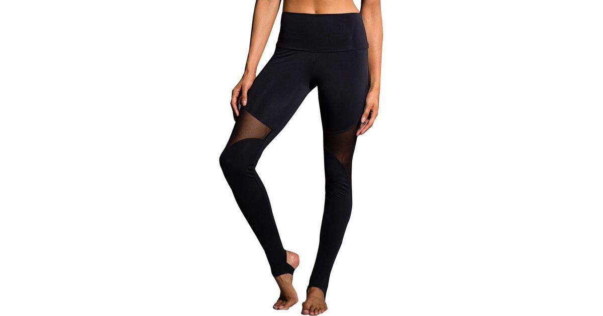 896b3e1cd32d7 Lyst - Onzie Lack High Rise Stirrup Leggings in Black