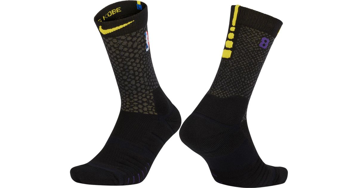Lyst - Nike Los Angeles Lakers City Edition Elite Quick Nba Crew Socks in  Black for Men 944751248