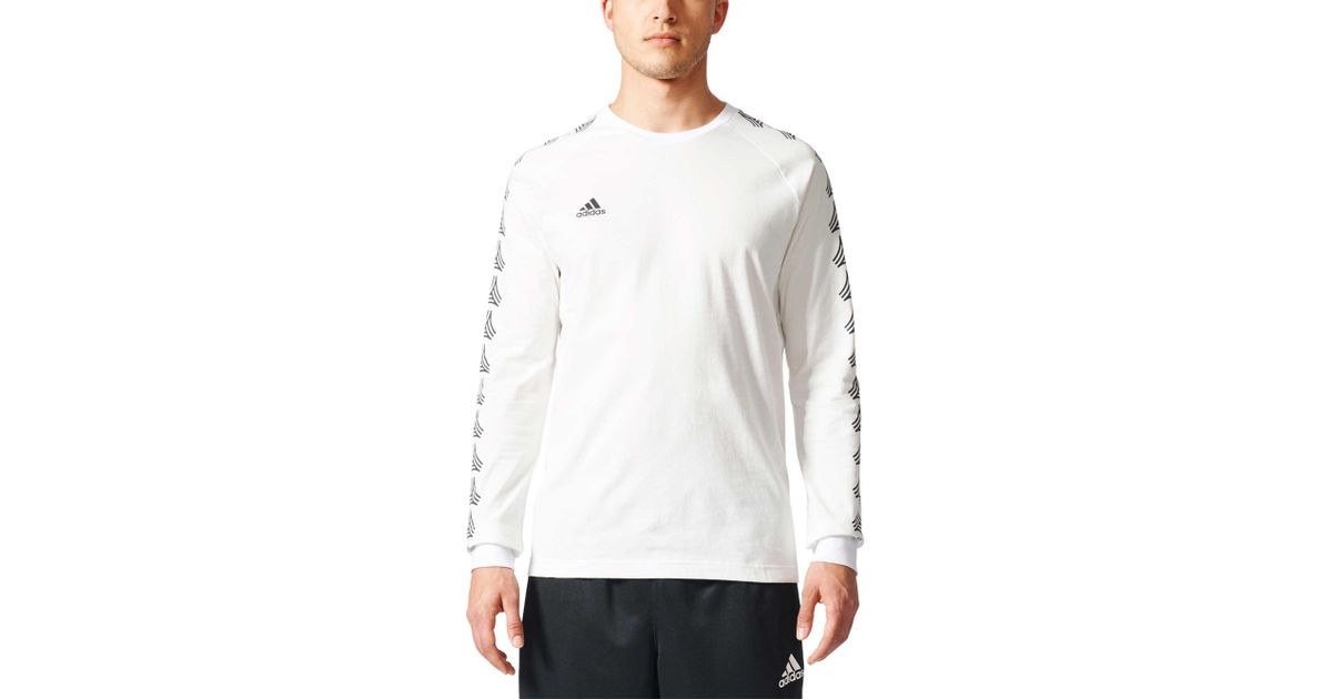 2e258caadda Lyst - adidas Tango Cage Long Sleeve T-shirt in White for Men