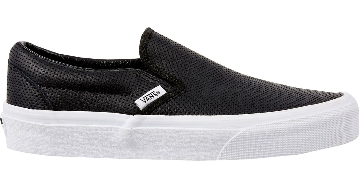 0fd4a7cfeb Lyst - Vans Perf Leather Slip-on Shoes in Black for Men