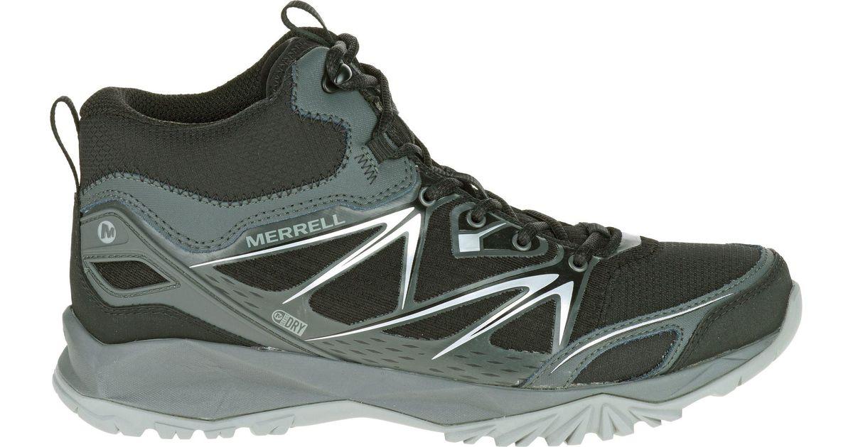 e644492225c Merrell - Black Capra Bolt Mid Waterproof Hiking Boots for Men - Lyst