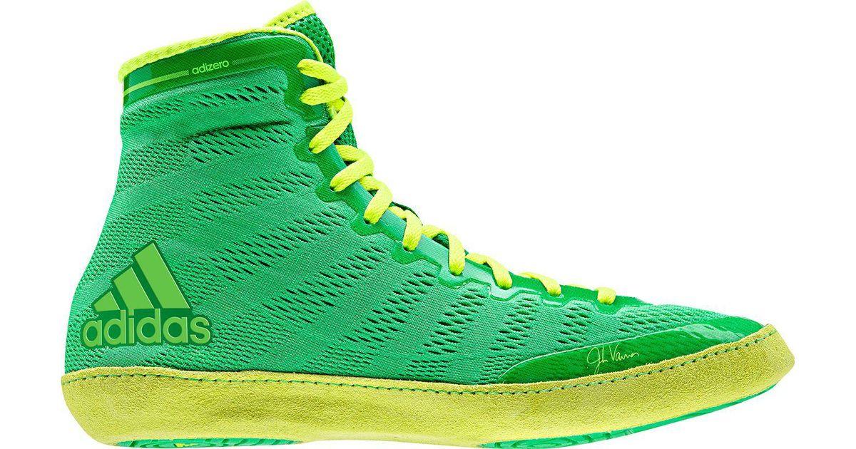 a7a35e7e2 adidas Adizero Varner Wrestling Shoes in Green for Men - Lyst