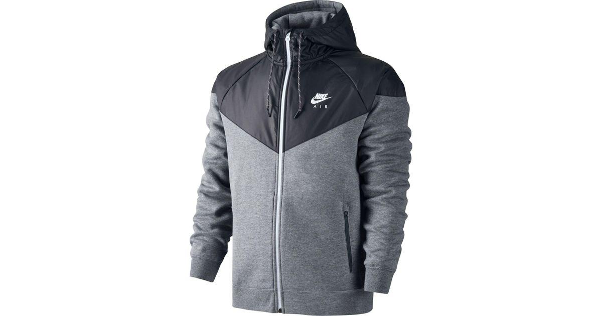 1f5535dc5f65 Lyst - Nike Fleece Windrunner Hybrid Full Zip Hoodie in Gray for Men