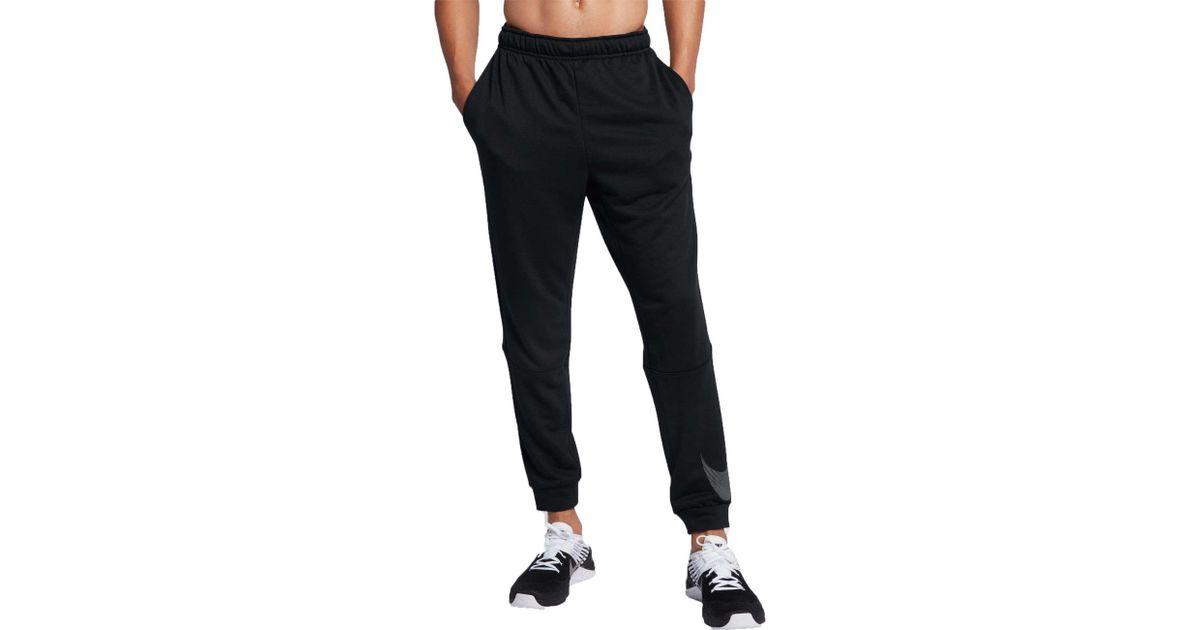 820c2ed98f5ca5 Nike Dry Tapered Logo Fleece Pants in Black for Men - Lyst