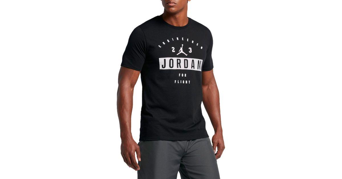 329210ae79d5 Nike Men T-Shirt Jordan Engineered For Flight Dri-Fit Short Sleeve Crew  Neck Tee Shirts