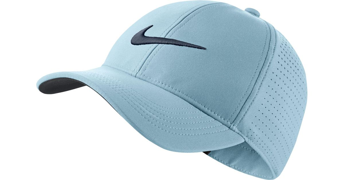 d04dfadd85242 Lyst - Nike Aerobill Legacy91 Perforated Golf Hat in Blue for Men