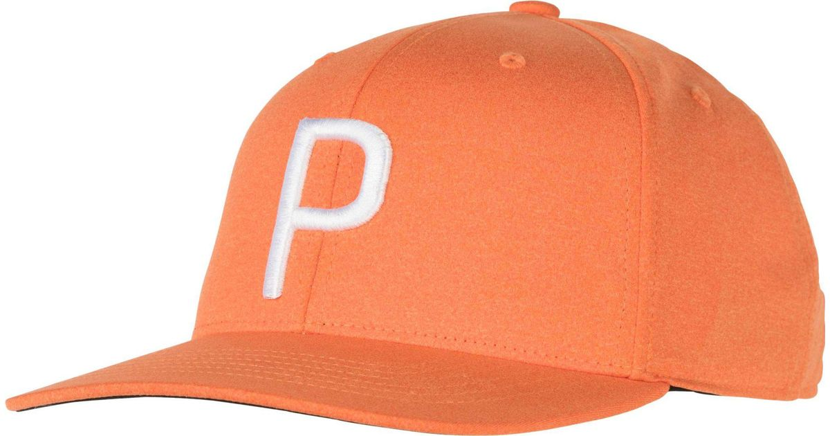 Lyst - PUMA Youth P Snapback Golf Hat in Orange for Men 8787a9dc741