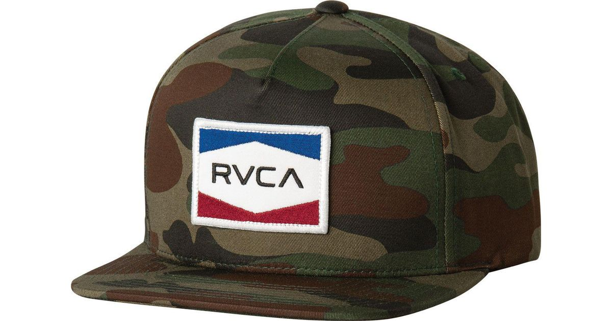 best loved 002a1 1f06a free shipping rvca ticket trucker hat 63ab1 43f6f  discount lyst rvca  nations snapback hat in green for men 99ec7 fd6ff