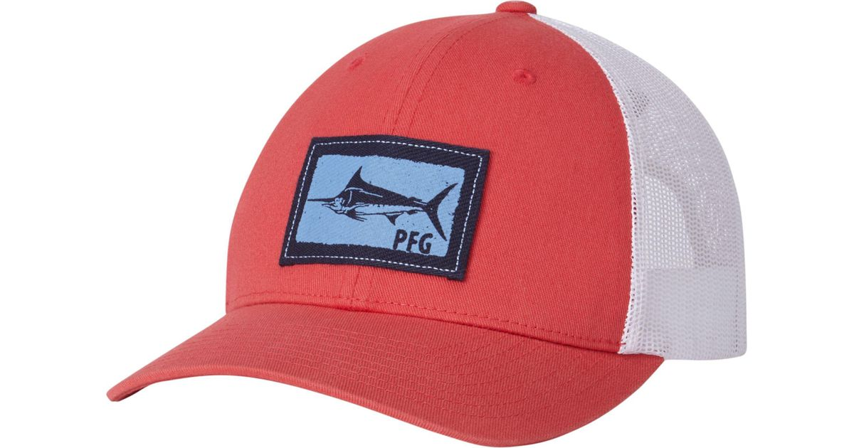 Lyst - Columbia Pfg Mesh Snapback Hat in Red 25ee385c61a