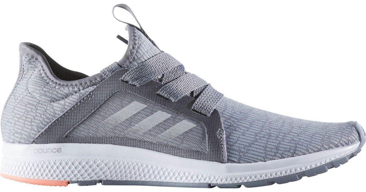 lyst adidas edge lux scarpe da corsa in grigio per gli uomini.