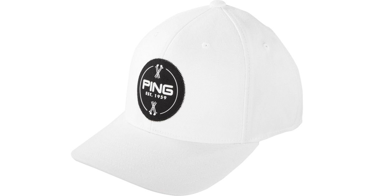 Lyst - Ping Patch Golf Hat in White for Men 17d4fe70e10