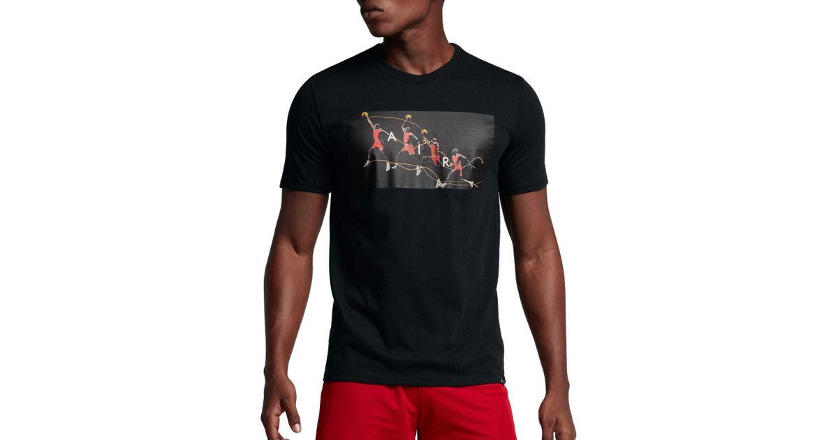 91a215cbf3c30e Lyst - Nike Jordan Dry Flight Photo Basketball Graphic T-shirt in Black for  Men