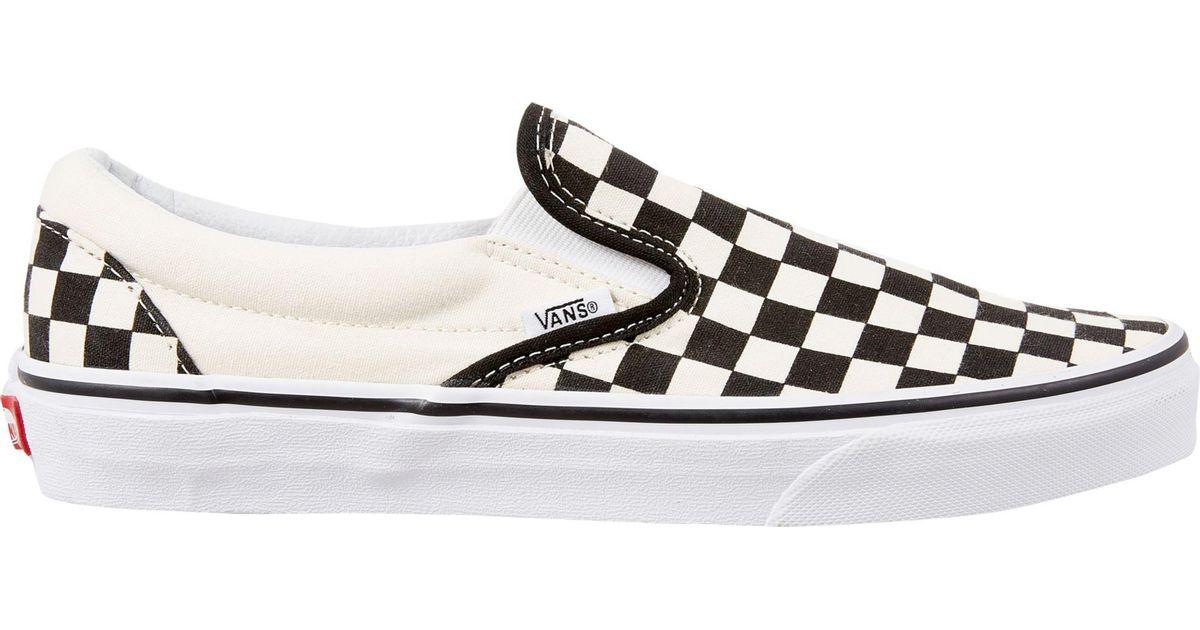 Lyst - Vans Checkerboard Slip-on Shoes in Black  Lyst - Vans Che...