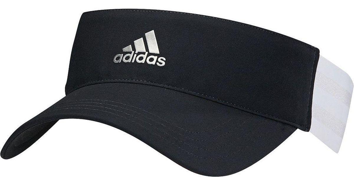 Lyst - Adidas 3-stripes Golf Visor in Black f5225b565d9