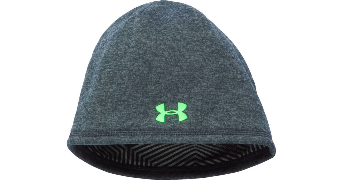 8db047a2337 Lyst - Under Armour Coldgear Infrared Elements Storm 2.0 Beanie in Green  for Men