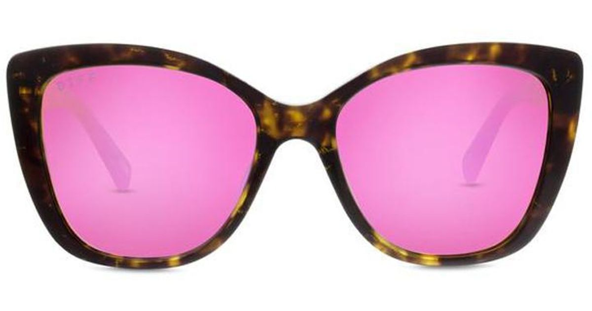 f94ca504a9 Lyst - DIFF Ruby - Tortoise + Pink + Polarized in Pink