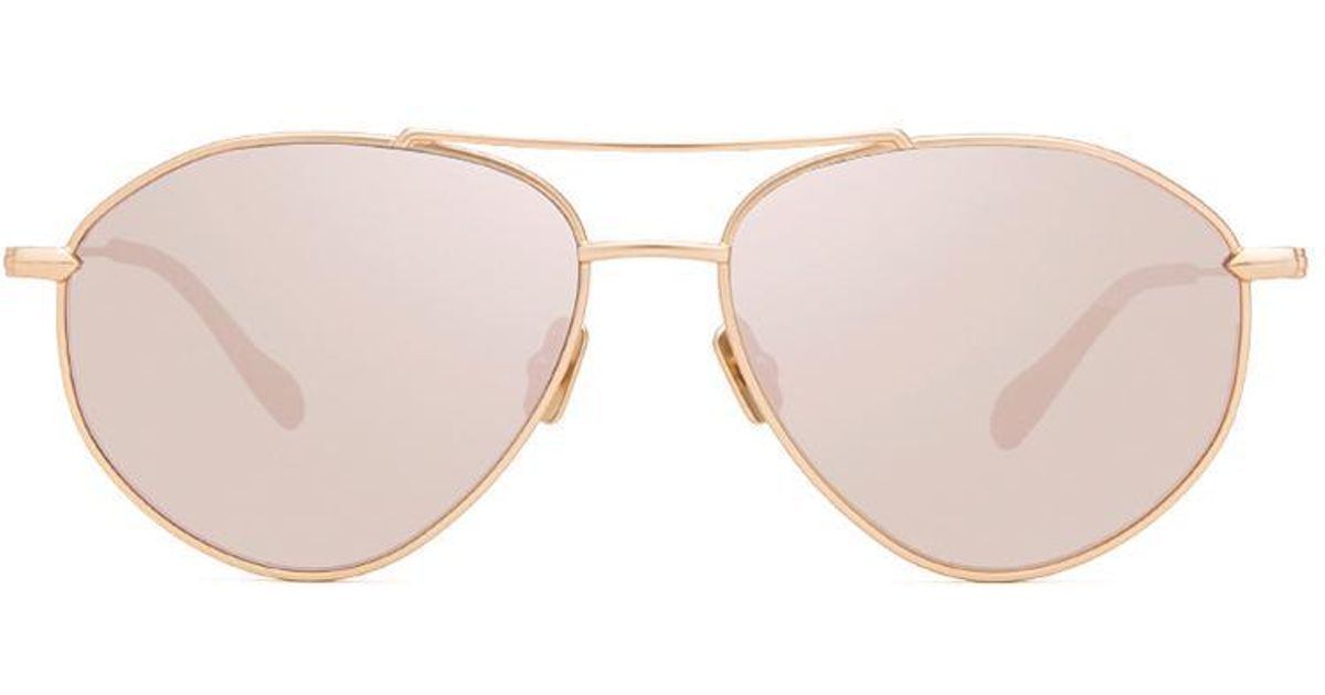 7aa802ff20 Lyst - DIFF Laura Lee - Peachy + Satin Gold + Taupe Flash Polarized