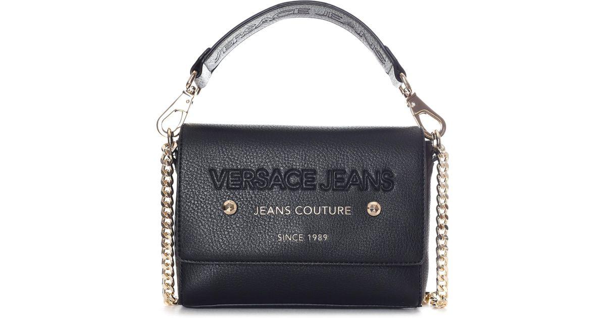 c1e5e8e601ff Versace Jeans Women s Couture Shoulder Bag Black in Black - Lyst