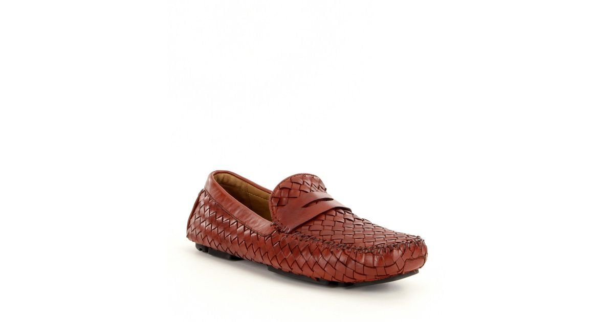 0ea7416bfdb Lyst - Robert Zur Men ́s San Tropez Leather Drivers in Red for Men