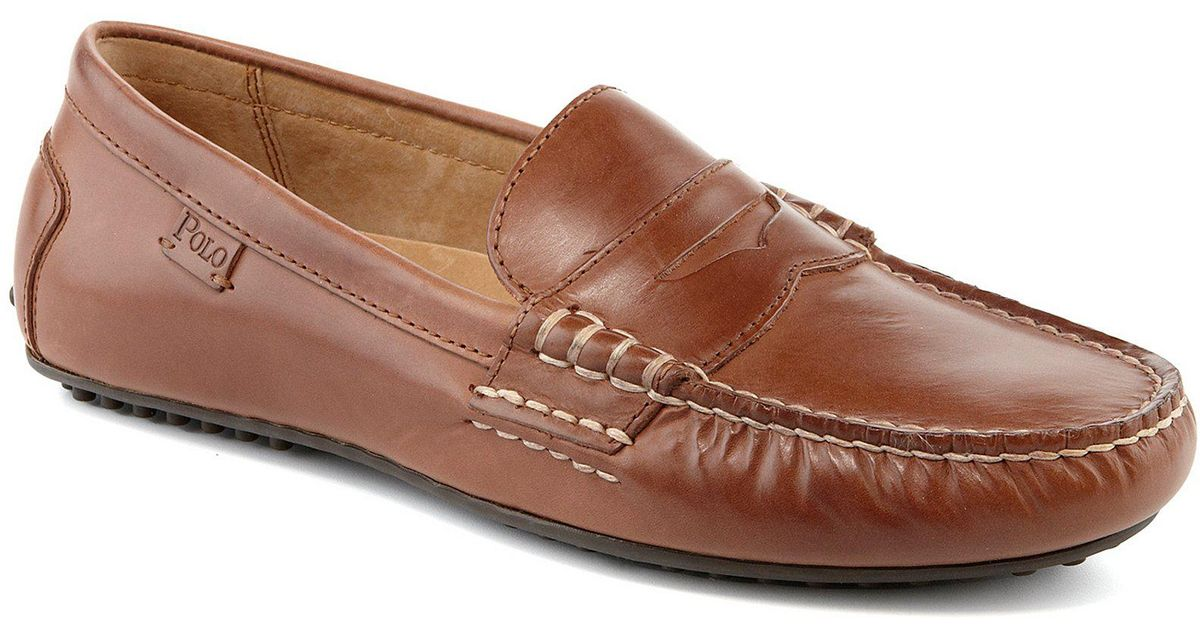 2e3ad9a3813 Lyst - Polo Ralph Lauren Wes Penny Loafers in Brown for Men