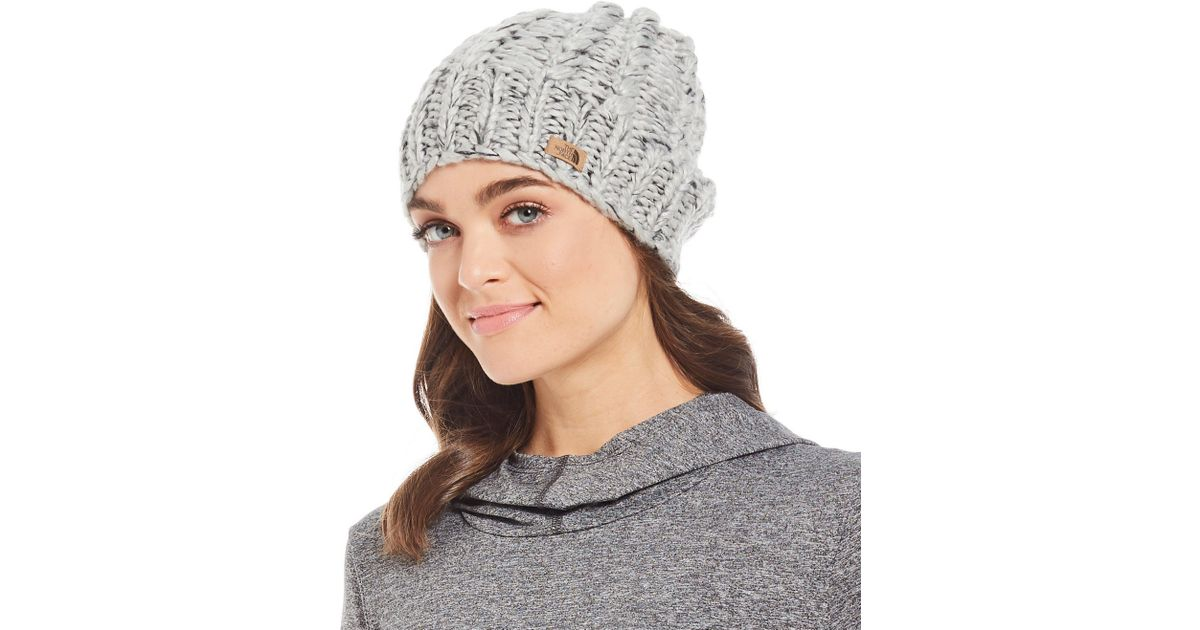 42dc799de00 Lyst - The North Face Ladies  Chunky Knit Beanie in Gray