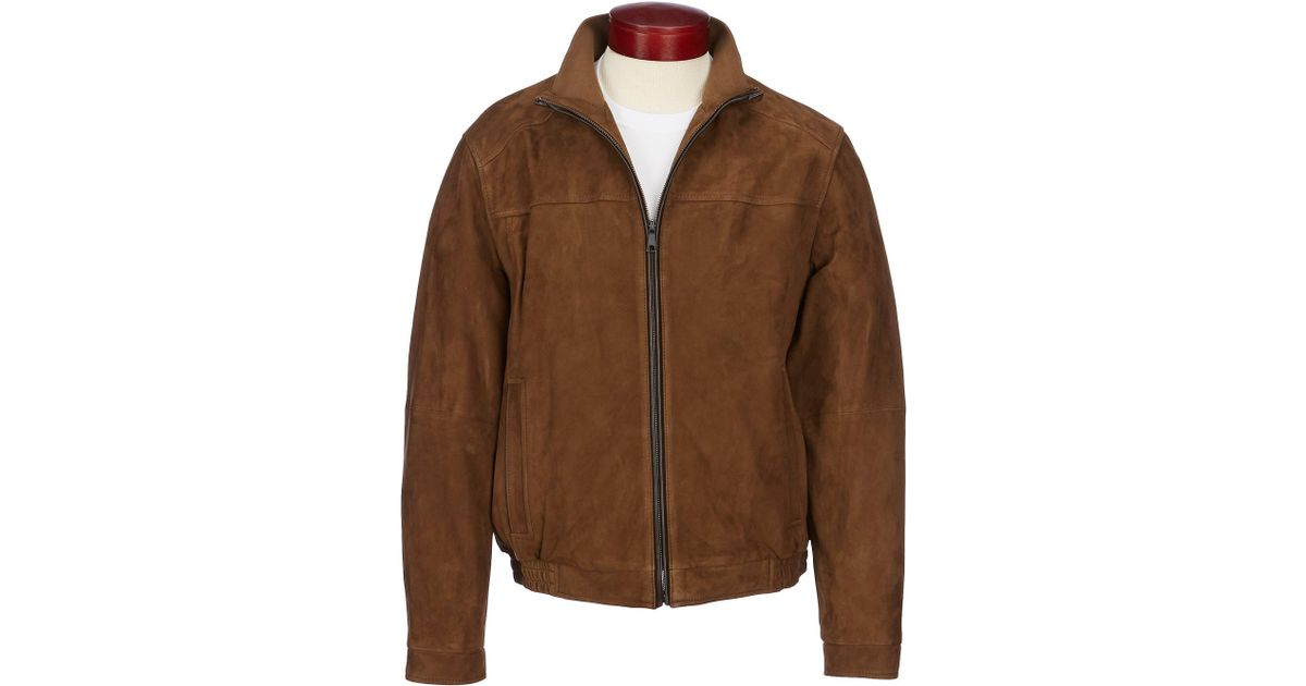406a8b336d Cremieux Daniel Signature Suede Bomber Jacket in Brown for Men - Lyst