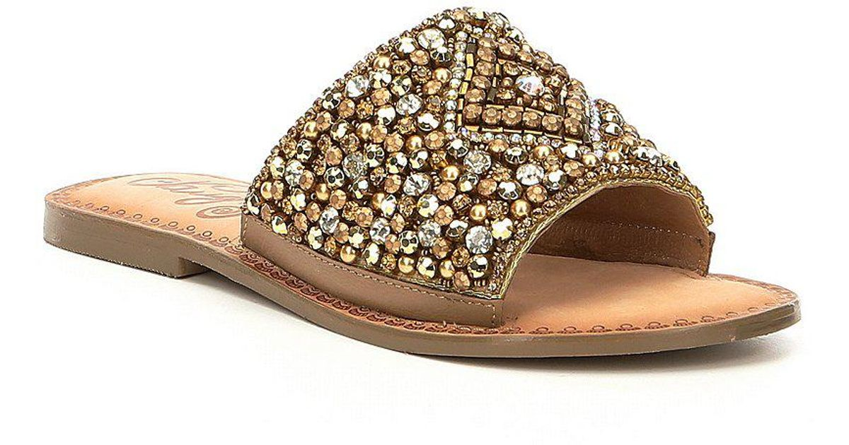 Susanna Bejeweled Detail Sandals 8ywMIa