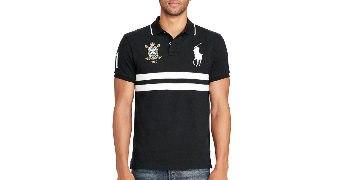 Lyst - Polo Ralph Lauren Classic-fit Big Pony Chest-stripe Short-sleeve Polo  Shirt in White for Men 3820b75517f38
