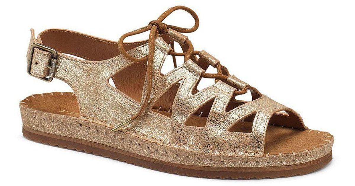 Chandler Metallic Ghillie Lace Up Sandals JxFpa