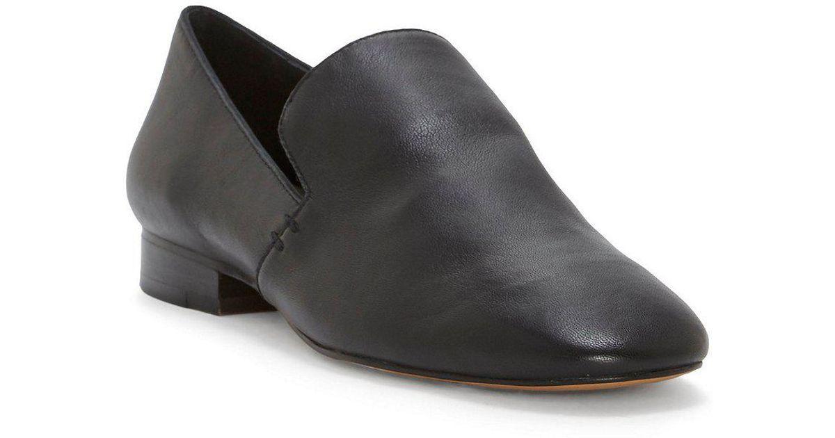 Willasa Nappa Leather Stacked Heel Flats mzSHy