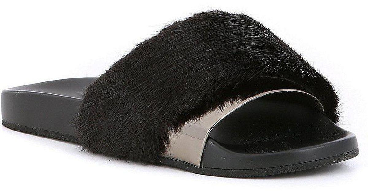 4aada181a15 Lyst - ALDO Gotta Faux Fur Slide-on Sandals in Gray