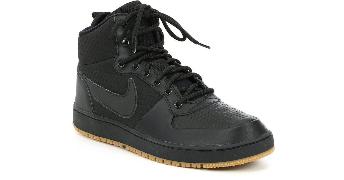 4021928f58f3 Nike - Black Men s Ebernon Mid Winter Lifestyle Sneaker for Men - Lyst