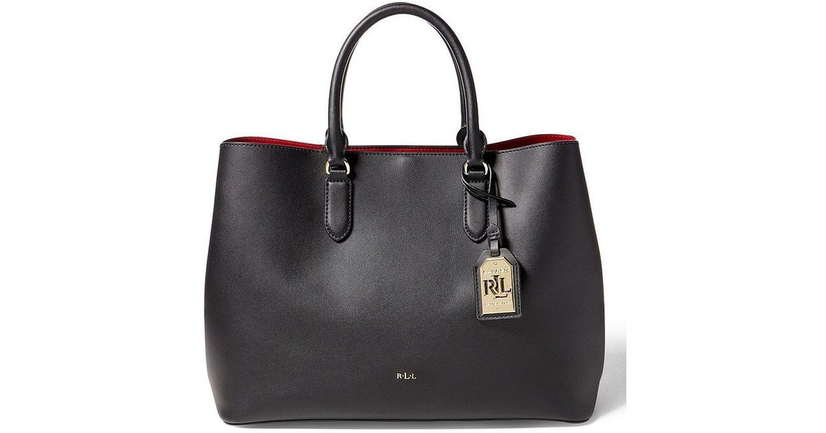 0b2f3e795e Lyst - Lauren by Ralph Lauren Dryden Collection Marcy Tote in Black