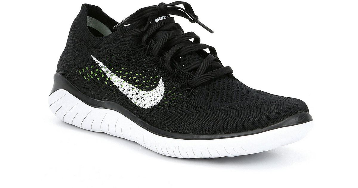 reputable site 7ec62 e01a5 Lyst - Nike Men s Free Rn Flyknit Running Shoes in Black for Men