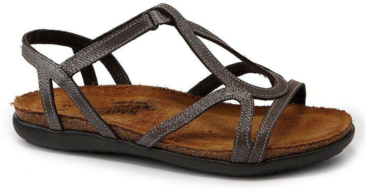Naot Dorith Metallic Leather Flat Sandals MKQ0MPUhB