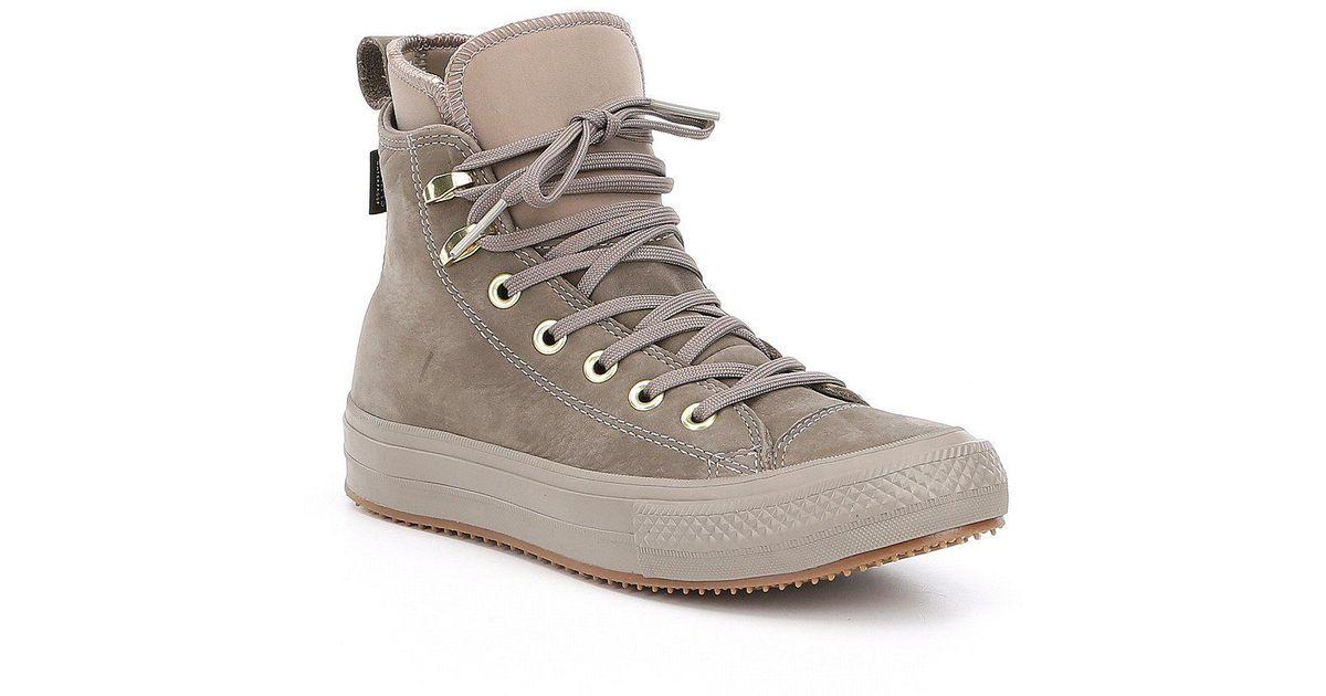 da2954418a3 Lyst - Converse Women S Chuck Taylor All Star Waterproof Boot Hi Top  Sneakers in Blue