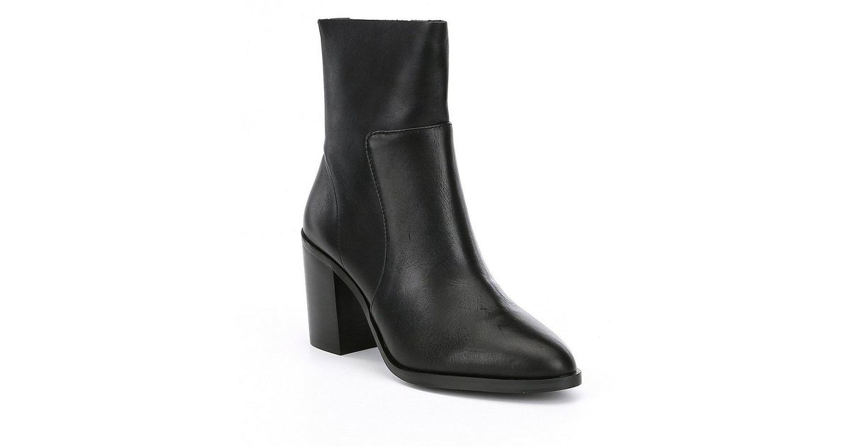 c3707d86a40 Lyst - Steve Madden Rewind Leather Booties in Black