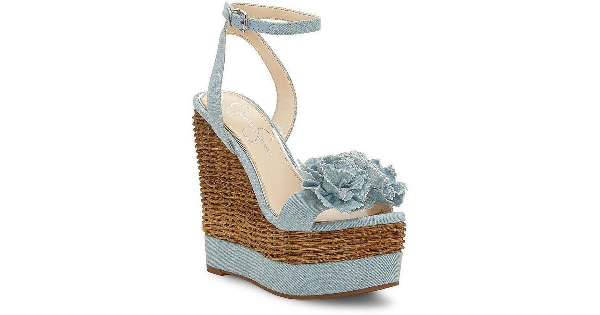Jessica Simpson Women's Pressa Platform Wedge Sandal 386jdW0nB7