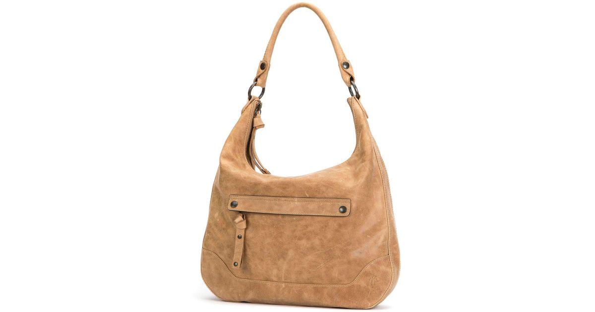e968872a11 Lyst - Frye Melissa Vintage Zip Hobo Bag in Natural